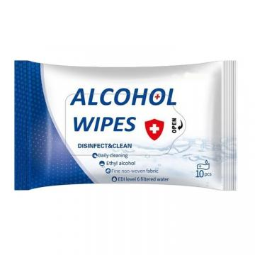 120 Pcs Set Individually Wrapped Non-woven Fabrics Antiseptic Disinfecting 75% Alcohol Wet Wipes