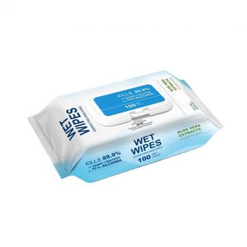 Fengle Wholesale Custom 75% Alcohol Gym Antiseptic Disinfectant Anti Bacterial Sanitary Sanitizer Sanitizing Antibacterial Hand Cleaning Wet Tissue Wipes