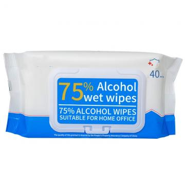 Alcohol Based Disinfectant Sachet Disposable Wet Wipes for Air Bus Ship Passengers
