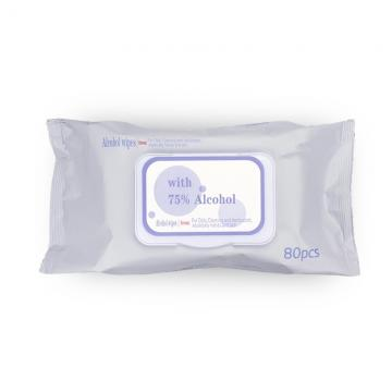 Chinese Zhan Wang cotton non-woven fabric 70% 75% ethyl alcohol sterilize portable clean hands wipes pad cleaning wipes