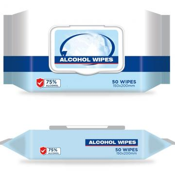 Individually packaged Wet Wipes for disinfection or cleansing use