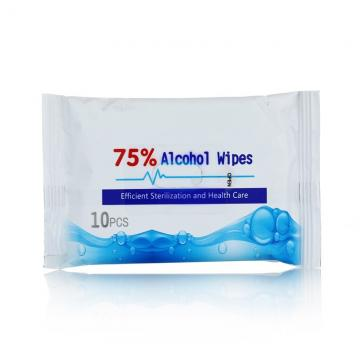 70% Ethyl Alcohol Ultra Compact Antibacterial Hand Sanitizer Disinfectant Germicidal Surface Wet Wipe in Bulk