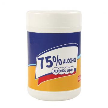 alcohol wipe tube with 80pcs wipes inside