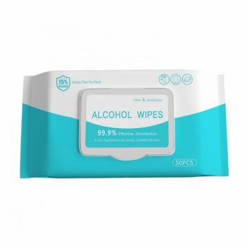 Single Packed 1pc 75% Alcohol Disinfectant Wipes Alcoholic Wet Disenfecting Wipes