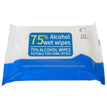 Customized Antibecterial Wet Wipes With 75% Alcohol