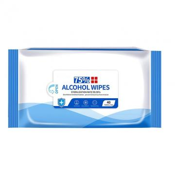 FDA ISO MSDS RoHS SGS Ce 75% or No Alcohol Wet Wipes