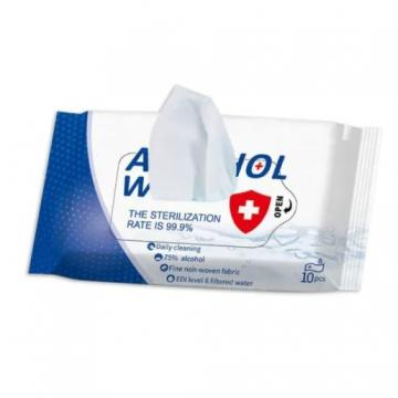 CE, FDA, MSDS, ISO Approved Non-Woven Fabric 75% Alcohol Wet Wipes for Daily Cleaning Use