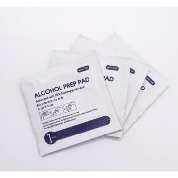Non-woven 70% isopropyl alcohol prep pads for surgery , sterile alcohol prep pad