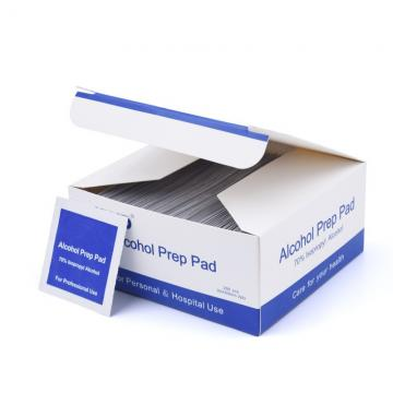 Alcohol Prep Pads With 70% isopropyl alcohol pads