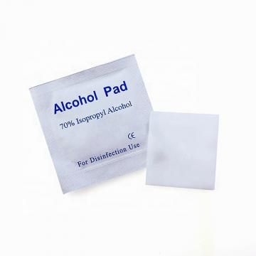 Disposable skin disinfection alcohol prep pad non-woven fabric alcohol pad