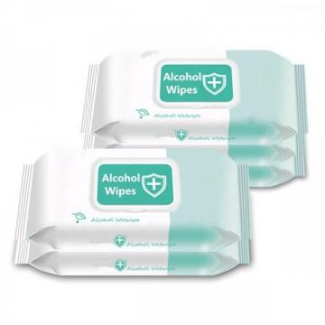 Custom 500PCS Non-Woven Fabric 75% Alcoholic Wipes Disin-Fectant Cleaning Wet Wipes