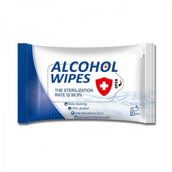 10 pieces OEM package 75% alcohol wipe to kill bacterial and Anti-bacterial 99.9% #3 image