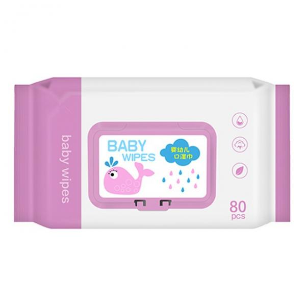 Custom Wholesale Non-Alcohol Sensitive Skin Cleaning Use Baby Wet Wipes #4 image