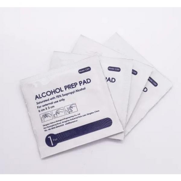 Non-woven 70% isopropyl alcohol prep pads for surgery , sterile alcohol prep pad #1 image